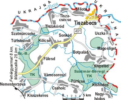tiszabecs térkép Térképek